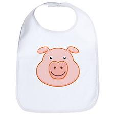 Happy Pig Face Bib