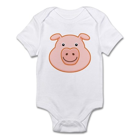 Happy Pig Face Infant Creeper