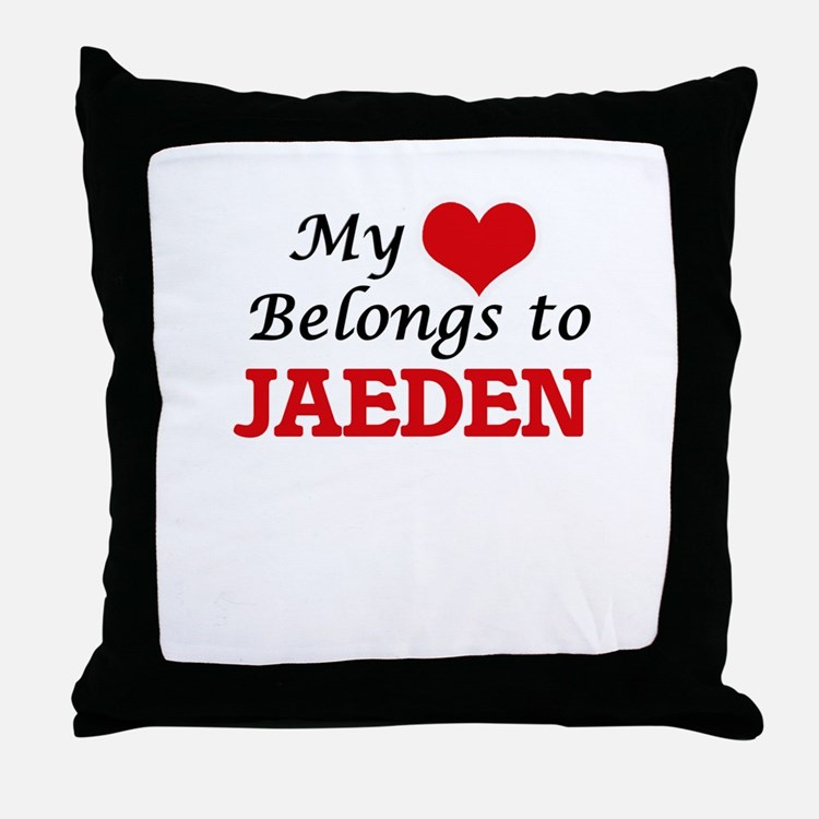 My heart belongs to Jaeden Throw Pillow