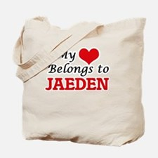My heart belongs to Jaeden Tote Bag