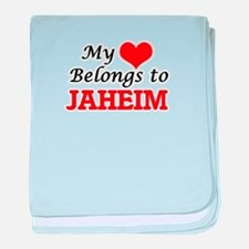My heart belongs to Jaheim baby blanket
