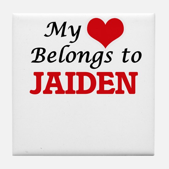 My heart belongs to Jaiden Tile Coaster