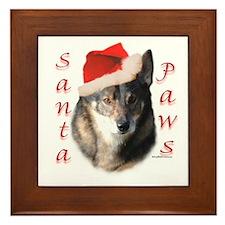 Vallhund Paws Framed Tile