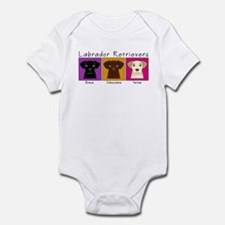 Three Labradors Bright Infant Bodysuit