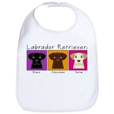 Three Labradors Bright Bib