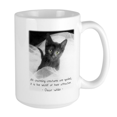 Spoiled Kitten-And-Quote Large Mug