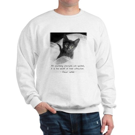 Spoiled Kitten-And-Quote Sweatshirt