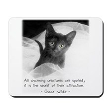 Spoiled Kitten-And-Quote Mousepad