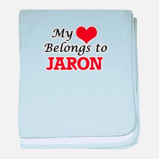 My heart belongs to Jaron baby blanket