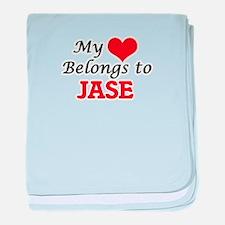 My heart belongs to Jase baby blanket