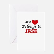 My heart belongs to Jase Greeting Cards