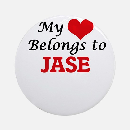 My heart belongs to Jase Round Ornament