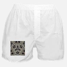 art nouveau black rhinestone Boxer Shorts