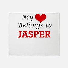 My heart belongs to Jasper Throw Blanket