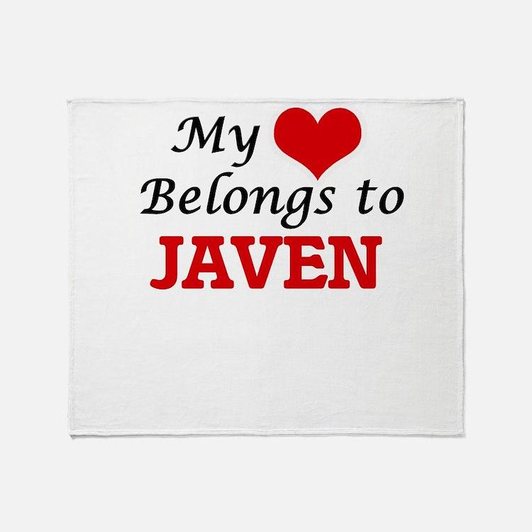 My heart belongs to Javen Throw Blanket