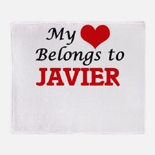 My heart belongs to Javier Throw Blanket