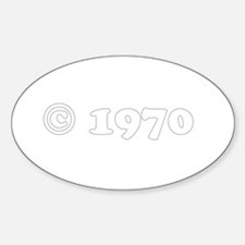 copyright 1970 Oval Decal