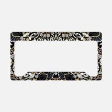 art nouveau black rhinestone License Plate Holder