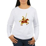 Knight On Horse Women's Long Sleeve T-Shirt