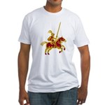 Knight On Horse Fitted T-Shirt