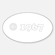 copyright 1967 Oval Decal