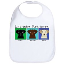 Three Labradors Cool Bib