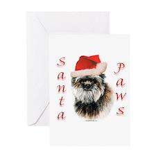 Affenpinscher Paws Greeting Card