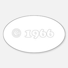 copyright 1966 Oval Decal