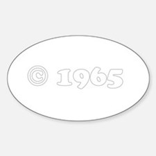 copyright 1965 Oval Decal