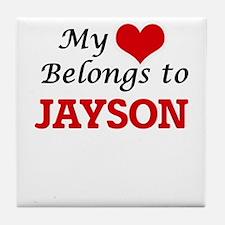 My heart belongs to Jayson Tile Coaster
