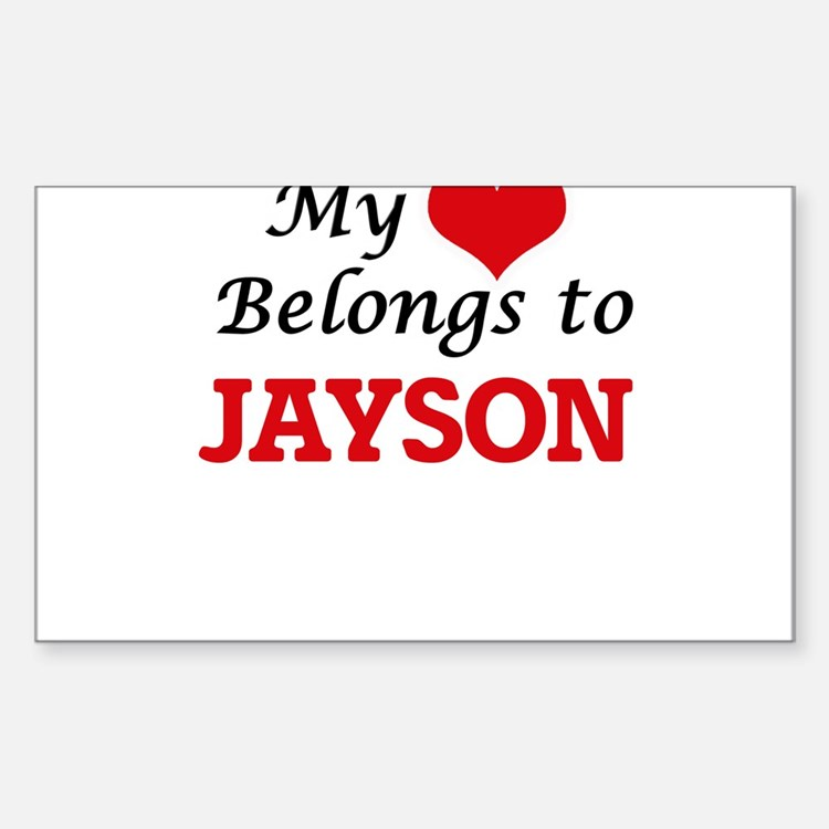 My heart belongs to Jayson Decal