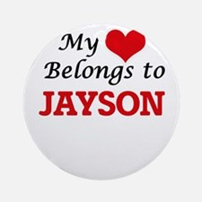 My heart belongs to Jayson Round Ornament