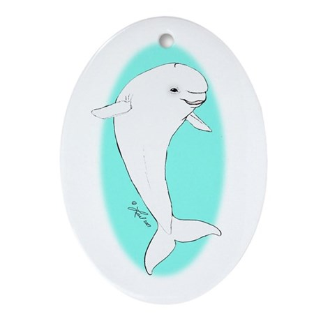 Beluga Oval Ornament