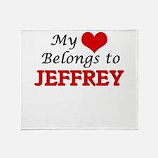 My heart belongs to Jeffrey Throw Blanket