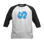 Icy Maya Jaguar Tail Kids Baseball Jersey