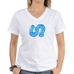 Icy Maya Jaguar Tail Women's V-Neck T-Shirt