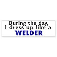 Dress Up Like A Welder Bumper Car Sticker