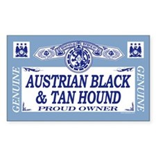 AUSTRIAN BLACK TAN HOUND Rectangle Decal
