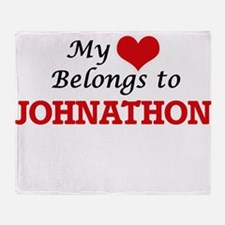 My heart belongs to Johnathon Throw Blanket