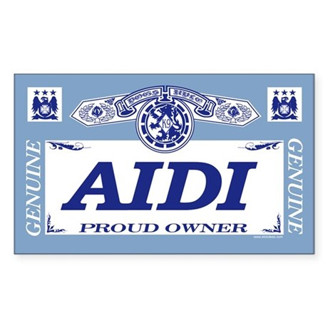 AIDI Rectangle Sticker