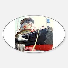 Cute Tugboat Sticker (Oval)