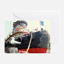 Unique Tugboats Greeting Card