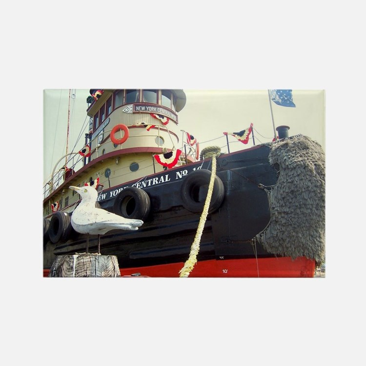 Cute Tugboat Rectangle Magnet