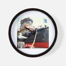 Cute Tugboats Wall Clock