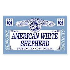 AMERICAN WHITE SHEPHERD Rectangle Decal