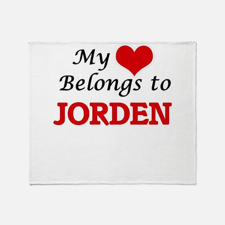 My heart belongs to Jorden Throw Blanket