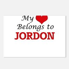 My heart belongs to Jordo Postcards (Package of 8)