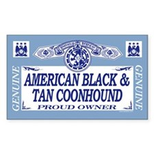 AMERICAN BLACK TAN COONHOUND Sticker (Rectangular