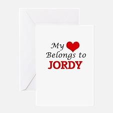 My heart belongs to Jordy Greeting Cards