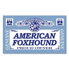 AMERICAN FOXHOUND Rectangle Decal